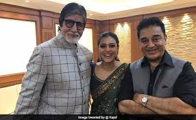 Photo of Amitabh Bachchan and Kajol were spotted together at the Kolkata International Film Festival.