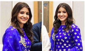 Photo of Anushka Sharma looked royal in Raw Mango's blue suit