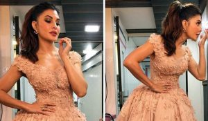 Photo of Jacqueline Fernandez looks like a princess in Dar Sara gown