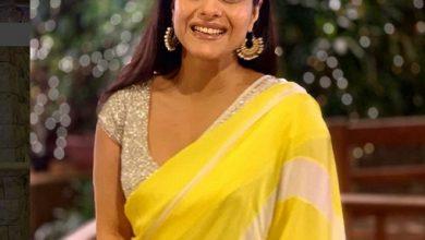 Photo of Kajol celebrated her diwali in this beautiful vibrant sari