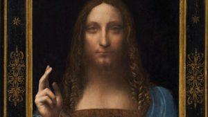 Photo of Leonardo da Vinci's Salvator Mundi sold for $450m