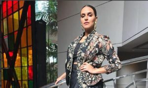 Photo of Neha Dhupia looked beautiful in floral print