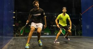 Photo of TANDON BEATS TOP SEED BORJA IN CCI SQUASH