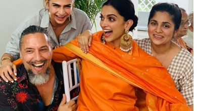 Photo of Deepika Padukone looked beautiful in this bright orange salwar suit from Sabyasachi