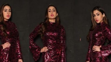Photo of Sara Ali Khan looks stunning in this sequinned dress