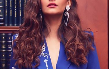 Photo of Sonam Kapoor slays in this all-blue asymmetrical skirt