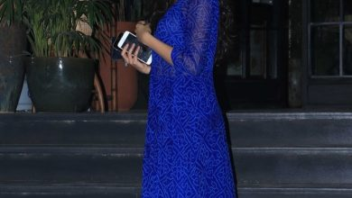 Photo of Janhvi Kapoor fails to pull this printed blue dress