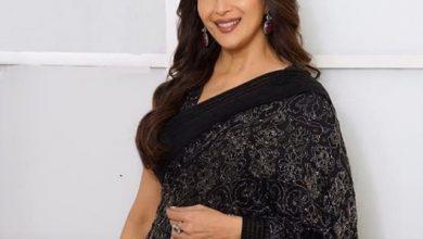 Photo of Madhuri Dixit looks stunning in this black sari from JADE
