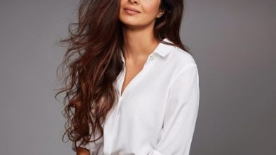 Photo of Tabu looked gorgeous in this white shirt
