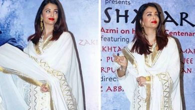 Photo of Aishwarya Rai Bachchan stuns in this white and golden suit