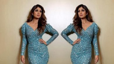 Photo of Shilpa Shetty looked gorgeous in this blue sequin gown