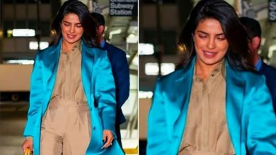 Photo of Priyanka Chopra Jonas stuns in this beige and turquoise outfit