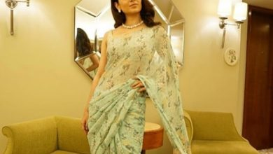 Photo of Kangana Ranaut rocks this Georgette sari by designer Anita Dongre