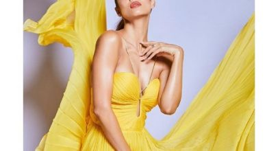 Photo of Malaika Arora shines bright in this yellow silk pleated gown