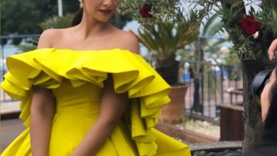Photo of Sonam Kapoor Ahuja looked stunning in the yellow gown at Cannes