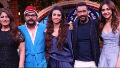 Photo of De De Pyar De team on The Kapil Sharma Show