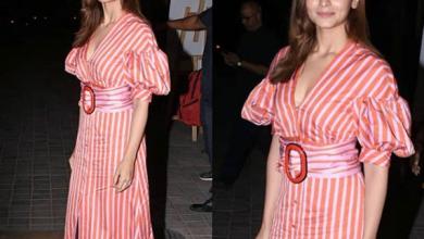 Alia Bhatt in beautiful pink and red dress