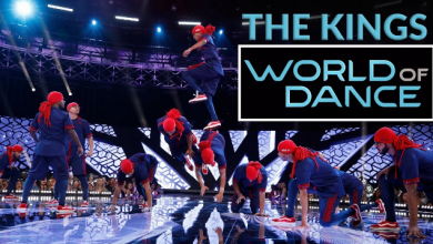 Photo of The World Of Dance trophy lifted by The Kings