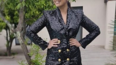 Huma Qureshi looks stunning in this black sequinned blazer