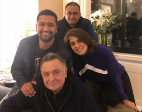 Rishi Kapoor visited by Vicky Kaushal in New York