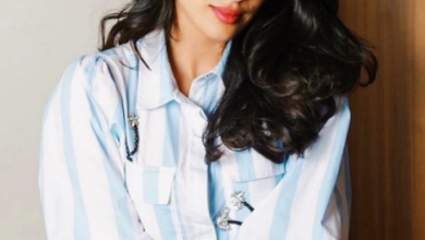 Photo of Janhvi Kapoor looked stunning in pinstripe shirt and pants