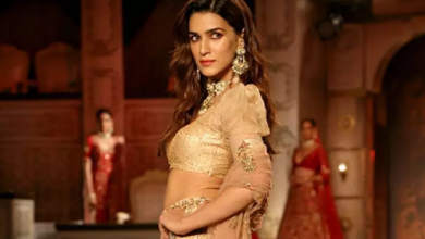 Photo of Kriti Sanon looks beautiful and also turns into a showstopper for designer shyamal And bhumika for India couture week 2019