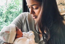 Sameera Reddy shared a picture with her newborn babygirl