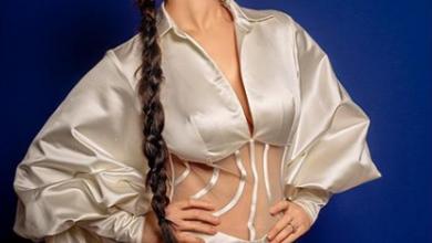 Photo of Sunny Leone stuns in thigh-slit satin sheer dress
