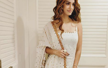 Photo of Disha Patani looks elegant in white and golden sharara