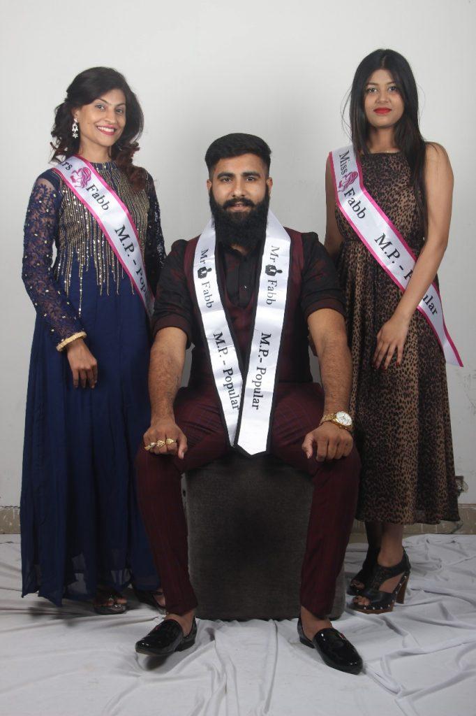 Miss Fabb Popular – Aarya Garg , Mr Fabb Popular – Himanshu Patel , Mrs Fabb Popular - Chaitanya Namdev