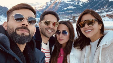 Photo of Varun Dhawan bumps into Virat and Anushka in Gstaad Switzerland