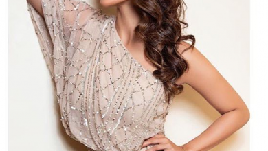 Photo of Mouni Roy looks breathtaking in this  champagne one-shoulder gown