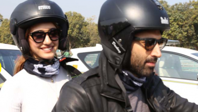 Photo of Aditya Roy Kapur and Disha Patani take a bike ride to India Gate to promote Malang