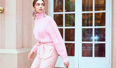 Photo of Deepika Padukone looks gorgeous in a baby pink ensemble