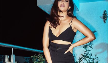 Photo of Bhumi Pednekar looks hot in a green bikini