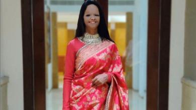 Photo of Laxmi Agarwal looks beautiful in a pink silk sari