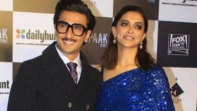 Photo of Deepika Padukone and Ranveer Singh look adorable at the screening of Chhapaak