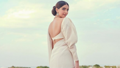 Photo of Sonam Kapoor looks glamorous in a white sari