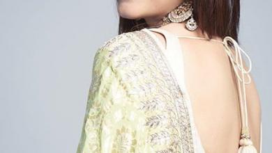 Photo of Kajol looks elegant in lime green Benarasi saree