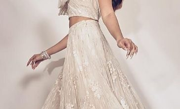 Photo of Tara Sutaria looks stunning in a white lehenga.