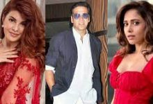 Photo of Akshay leaves for Ayodhya with Jacqueline Fernandez and Nushrratt Bharuccha for RamSetu muhurat